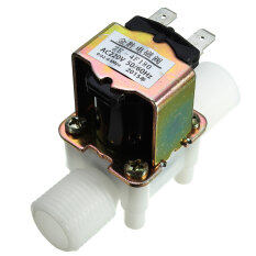 โปรโมชั่น 2Pcs J34 Ac220V Electric Solenoid Valve Magnetic N C Water Air Inlet Flow Switch N C 1 2 Unbranded Generic