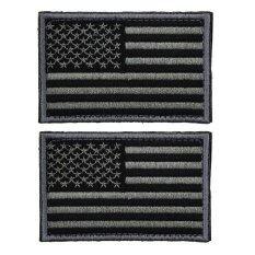 2 ชิ้นยุทธวิธีธงชาติสหรัฐอเมริกา Self กาวอเมริกันธงสหรัฐอเมริกาสหรัฐอเมริกาทหารสัญลักษณ์แพทช์ ถ่านสีเทา นานาชาติ เป็นต้นฉบับ