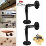 ซื้อ 2Pcs Vintage Retro Black Iron Industrial Pipe Shelf Bracket Holder Home Decor Intl ออนไลน์