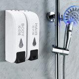 ทบทวน 2X 350Ml Wall Mounted Bathroom Shower Body Lotion Shampoo Liquid Soap Dispenser Intl