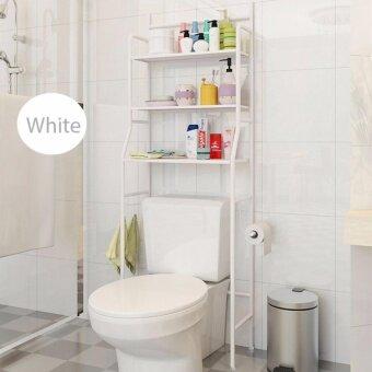 ชั้นเหล็กวางของอเนกประสงค์ ใช้วางในห้องน้ำหรือ วางคร่อมเครื่องซักผ้า มี 3 ชั้น
