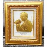 ราคา ราคาถูกที่สุด กรอบรูปในหลวงพิมพ์นูน 3 มิติเคลือบทอง ลายทรงกล้อง ขนาดตั้งโต๊ะ