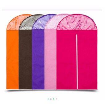 ถุงผ้าคลุม ชุดสูท เสื้อผ้า แพค 3 ขิ้น สีชมพูอ่อน ขนาด60x137