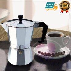 ซื้อ กาต้มกาแฟสดเครื่องชงกาแฟสด แบบปิคนิคพกพา ใช้ทำกาแฟสดทานได้ทุกที ขนาด 3 Cup 150 Ml สีเงิน ถูก ใน กรุงเทพมหานคร