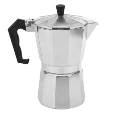 ซื้อ 3 Cup Moka Express Stovetop Espresso Coffee Maker Pot Latte 6 Cup 900Ml ใหม่