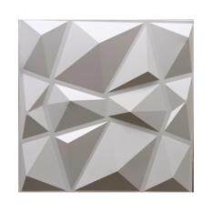 ราคา ผนัง 3 มิติ Dragonwall แผ่นตกแต่งผนัง 3D ลาย Crystal 4 แผ่น 1 ตรม สีขาว ใน กรุงเทพมหานคร