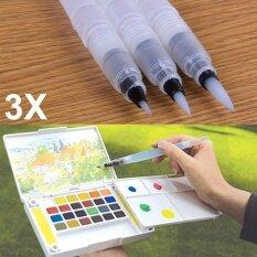 ปากกาพู่กันสีน้ำสำหรับเติมน้ำได้ไซส์แอล3 ชิ้น.