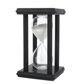 30 Min Wooden Sand Clock Sandglass Hourglass Timer for Gift/Decoration White