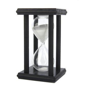 30 Min Wooden Sand Clock Sandglass Hourglass Timer for Gift/Decoration White