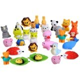 ขาย 30 Pcs 30 Styles Funny Puzzle Animals Pencil Erasers Puzzle Toys For Party Favors Games Prizes Carnivals Gift Sch**l Supplies Intl
