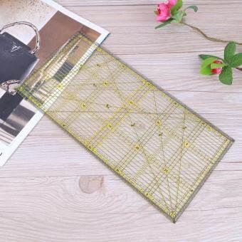 [uebfashion] 30X15 cm คริลิคผ้าห่มผ้านวมไม้บรรทัด Patchwork เย็บไม้บรรทัด