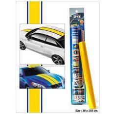 ขาย 30 X 150 ซม แถบสติ๊กเกอร์แต่งรถยนต์ สีเหลือง ถูก ใน กรุงเทพมหานคร