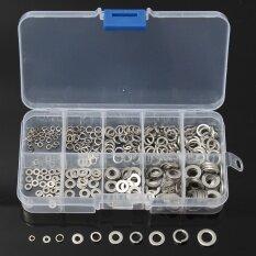 ราคา ราคาถูกที่สุด 300Pcs M2 M6 Assorted 304 Stainless Steel Sump Plug Flat Spring Washer Set Case Intl