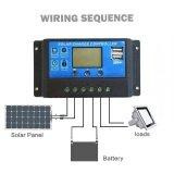 ขาย ซื้อ ออนไลน์ 30A Pwm จอแสดงผลแบตเตอรี่พลังงานแสงอาทิตย์แบบ Dual Usb Controller