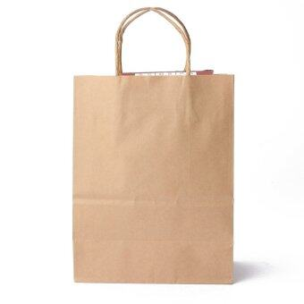 30pcs Kraft Brown Twisted Handle Shopping Gift Merchandise Paper Carrier Retail Bags 21x11x27CM