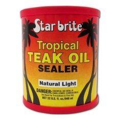 ทรอบปิคัลน้ำมันดูแลรักษาเนื้อไม้ สีอ่อน 32 ออนซ์ Starbrite 87932 Tropical Teak Oil-Sealer Light (946ml) 32 Oz..