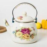 ขาย 3 3 Liter Creative Enamel Tea Kettle Water Pot Flowers B Intl ออนไลน์ จีน