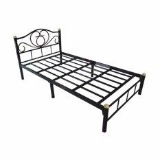 Otp เตียงเหล็ก3.5ฟุต ขา2นิ้ว รุ่นโลตัส By Tp Furniture.
