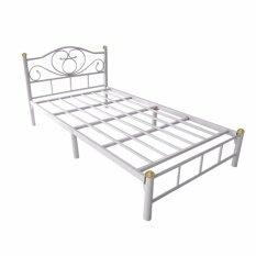 Otp เตียงเหล็ก3.5ฟุต ขา2นิ้ว รุ่นโลตัส.