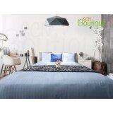 ราคา ชุดเครื่องนอน สีฟ้า 3 5Ft 2Pcs Luxury Classic Style Cotton 100 โรงแรม 5 ดาว ใหม่