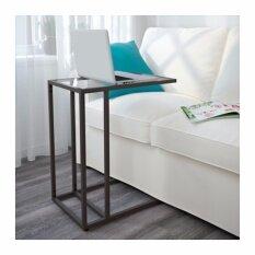 ราคา โต๊ะวางแล็ปท็อป น้ำตาลดำ แก้ว ขนาด 35X65 ซม Unbranded Generic ออนไลน์