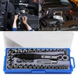 ขาย 38 Pcs Multi Functional 3 8 Inch Imperial Metric Ratchet Driver Socket Wrench Tool Set Intl Unbranded Generic
