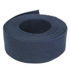 โปรโมชั่น 38Mm Width Cotton Fabric Webbing Tape For Making Strapping Belt Bag Strap Carfts Navy Intl ใน แองโกลา