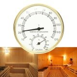 โปรโมชั่น 3 9 Stainless Steel Gold Edge Sauna Room Thermometer Hygrometer 0°C 120°C Intl จีน