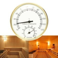 ราคา 3 9 Stainless Steel Gold Edge Sauna Room Thermometer Hygrometer 0°C 120°C Intl ออนไลน์ จีน