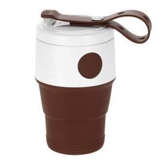 แนะนำ 395 มิลลิลิตรพับยืดขยายถ้วยกาแฟซิลิโคนพับท่องเที่ยวแคมป์ปิ้ง