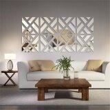 ซื้อ 3D Removable 32Pcs Mirror Acrylic Wall Sticker Diy Art Vinyl Decal Home Decor Intl ใหม่