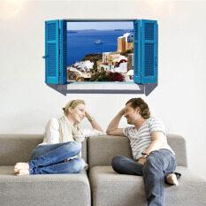 ราคา 3D Seaside Town สติ๊กเกอร์ติดผนังรูปลอกวอลล์เปเปอร์ Pvc จิตรกรรมฝาผนังตกแต่งบ้านศิลปะบ้านกระดาษวอลเปเปอร์รูปภาพสำหรับเด็กโต ฮ่องกง