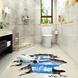 ซื้อ 3D Stream Floor Wall Sticker Removable Mural Decals Vinyl Art Living Room Decor Intl Unbranded Generic