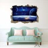 ขาย Mimosifolia 3D Star Starry Nebula สติ๊กเกอร์ติดผนังพีวีซีสติ๊กเกอร์วอลล์เปเปอร์ภาพจิตรกรรมฝาผนังศิลปะสินค้าตกแต่งบ้านของใช้ในครัวเรือนผู้ใหญ่เด็กวอลล์เปเปอร์ Intl ออนไลน์