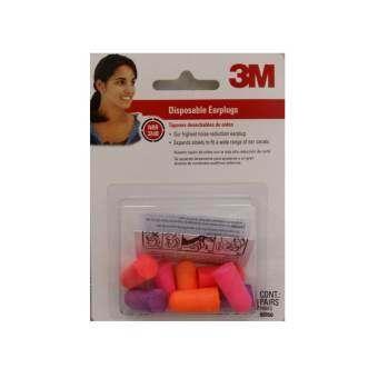 3เอ็ม โฟมอุดหู ป้องกันเสียง หลากสี 3M Foam Ear Plugs (4 คู่) x 1 แผง