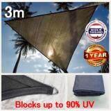 ซื้อ 3M สแลนกรองแสงกันแดด วัสดุทนต่อรังสี180 แกรม 3M Triangle Outdoor Garden Sun Sail Shade ออนไลน์ สุราษฎร์ธานี