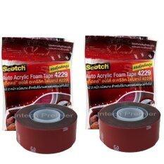 ซื้อ 3M 4229 2 ม้วน Acrylic Foam Tape 24 Mm X 2 5 M Thickness 8 Mm โฟมเทปกาว 2 หน้า สำหรับงานตกแต่งรถยนต์ 3M เป็นต้นฉบับ