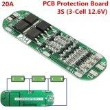 ซื้อ 3Pcs 3S 20A Li Ion Li Thium 18650 Charger Pcb Bms Protection Board 12 6V Cell 64X20X3 4Mm Module Intl จีน