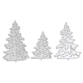 3 ชิ้น Christmas Tree โลหะ Die ที่ตัดลายกระดาษสำหรับ DIY Scrapbooking - INTL-