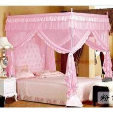 โปรโมชั่น มุ้งกันยุง 4 เสา ขนาด 1 8Mx2M สำหรับเตียงขนาด 6 ฟุต