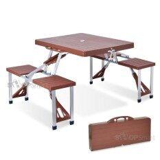ชุดโต๊ะปิคนิคพับได้ 4 ที่นั่ง .