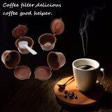 ขาย 4 Reusable Coffee Filter ถ้วยกาแฟเนสท์เล่ 4 ใน 1 กรองแคปซูลกรองถาวรถ้วยกับ 1 ช้อน ถูก ใน แองโกลา