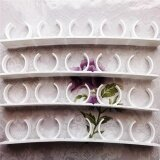 ซื้อ 4 Rows Set Spice Rack Spice Wall Storage Plastic Kitchen Organizer Rack 12 Cabinet Door Hooks Kitchen Accessories Intl ใน จีน