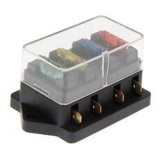 ราคา 4 Way Circuit Blade Fuse Box Block Holder 12V 24V Fuse Intl Easygobuy ออนไลน์
