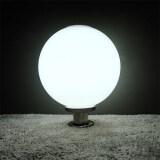 ทบทวน ที่สุด โคมไฟหัวเสา โซล่าเซลล์ ทรงกลม 40 Cm เเสง ขาว