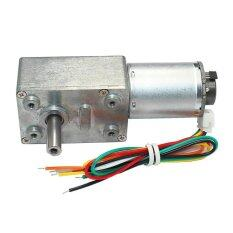 ขาย 40Rpm 12V Encoder Motor Dc Turbo Worm Gear Motor W Self Lock Intl