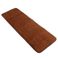ซื้อ 40X120Cm Memory Foam Washable Bedroom Floor Pad Non Slip Bath Rug Mat Door Carpet Brown ถูก ใน แองโกลา