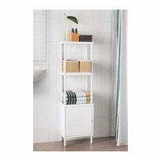 ชั้นวางของพร้อมตู้, ขาว ขนาด 40x27x134 ซม. By Ann Up.