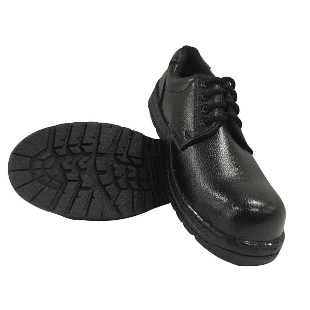 รองเท้าเซฟตี้ รองเท้าหัวเหล็ก รองเท้านิรภัย เชือกดำ เบอร์42