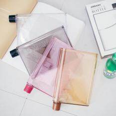 ขาย 420Ml Creative Memo Bottle A5 Notebook Letter Reusable Transparent Plastic Cup Water Bottle Colour Pink Intl Unbranded Generic ถูก